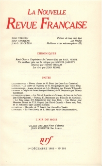 Nouvelle revue française, n° 395 -