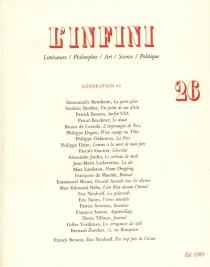 Infini (L'), n° 26 -