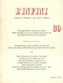 Infini (L'), n° 39 -