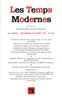 Temps modernes (Les), n° 584 -