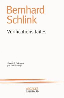 Vérifications faites - BernhardSchlink