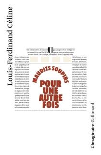 Maudits soupirs pour une autre fois : une version primitive de Féerie pour une autre fois - Louis-FerdinandCéline