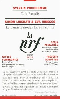 Nouvelle revue française, n° 620 -