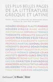 Les plus belles pages de la littérature grecque et latine -