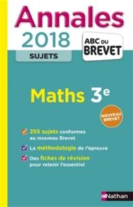 Maths 3e : annales 2018