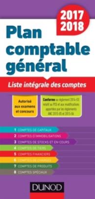 Plan comptable général 2017-2018 : liste intégrale des comptes