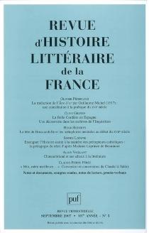 Revue d'histoire littéraire de la France, n° 3 (2007) -
