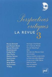 Perspectives critiques, la revue, n° 3 -