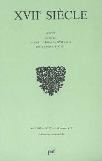 Dix-septième siècle, n° 235 -