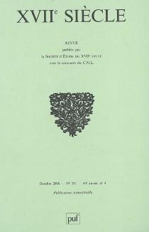 Dix-septième siècle, n° 241 -