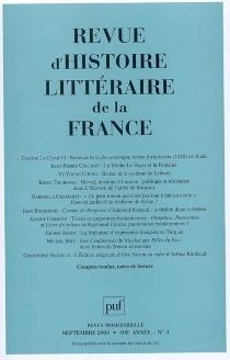 Revue d'histoire littéraire de la France, n° 3 (2008) -