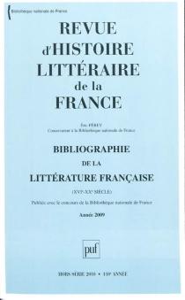 Revue d'histoire littéraire de la France, hors série, n° 2010 - ÉricFérey