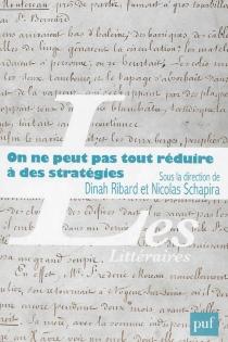 On ne peut pas tout réduire à des stratégies : pratiques d'écriture et trajectoires sociales - DinahRibard