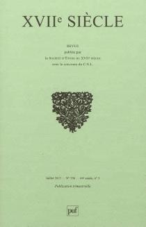 Dix-septième siècle, n° 256 -