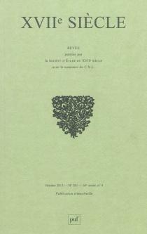 Dix-septième siècle, n° 261 -