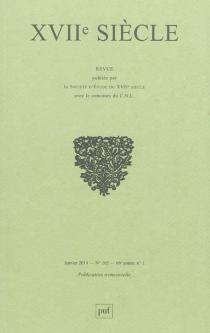 Dix-septième siècle, n° 262 -