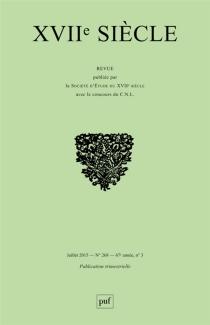Dix-septième siècle, n° 268 -