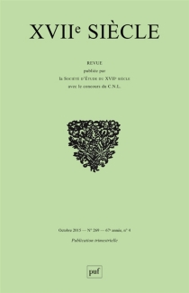 Dix-septième siècle, n° 269 -