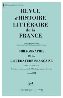 Bibliographie de la littérature française, XVIe-XXIe siècle : année 2014 - MonikaProchniewicz