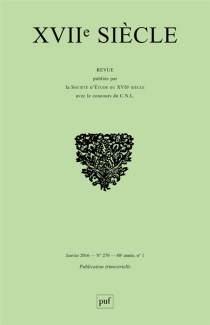 Dix-septième siècle, n° 270 -