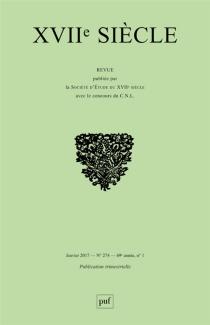 Dix-septième siècle, n° 274 -