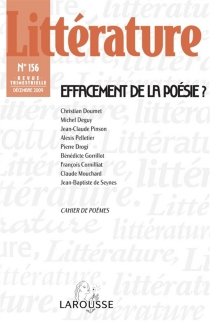 Littérature, n° 156 -