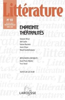 Littérature, n° 157 -