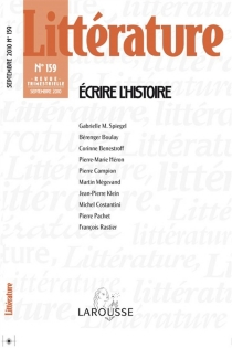 Littérature, n° 159 -