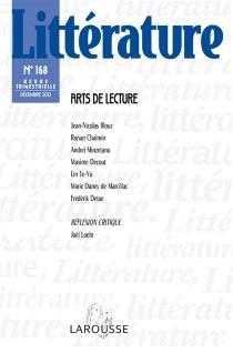 Littérature, n° 168 -