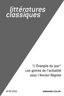 Littératures classiques, n° 78 -