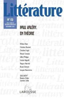Littérature, n° 172 -