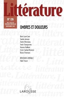 Littérature, n° 179 -