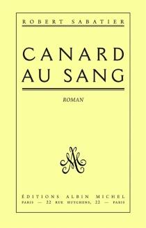 Canard au sang - RobertSabatier