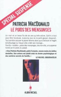 Le poids des mensonges - Patricia J.MacDonald