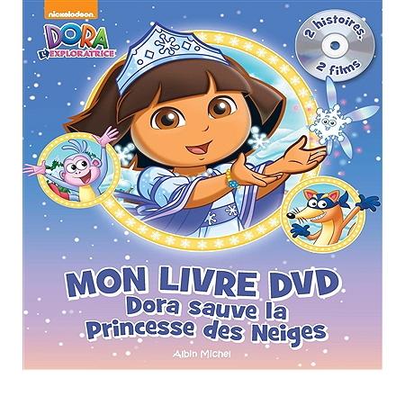 Dora sauve la princesse des neiges mon livre dvd 2 histoires 2 films dora et l 39 arc en ciel - Dora princesse des neiges ...