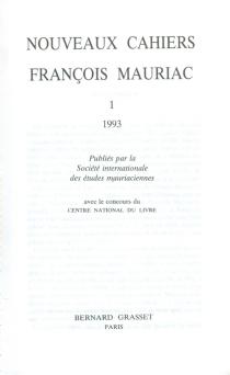 Nouveaux cahiers François Mauriac, n° 1 - FrançoisMauriac