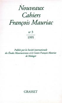 Nouveaux cahiers François Mauriac, n° 3 - FrançoisMauriac