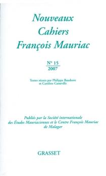 Nouveaux cahiers François Mauriac, n° 15 -