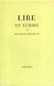 Lire et écrire - MauriceChapelan