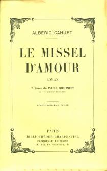 Le missel d'amour - AlbéricCahuet