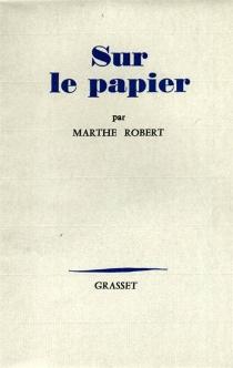 Sur le papier - MartheRobert