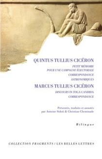 Petit mémoire pour une campagne électorale| Correspondance| Astronomiques - Quintus TulliusCicéron