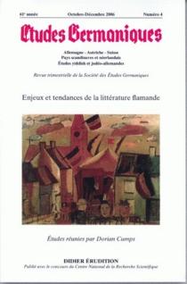 Etudes germaniques, n° 4 (2006) -