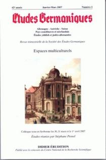 Etudes germaniques, n° 1 (2007) -