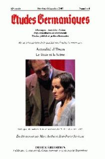 Etudes germaniques, n° 4 (2007) -