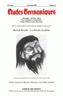 Etudes germaniques, n° 250 -
