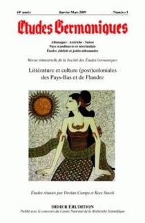 Etudes germaniques, n° 253 -