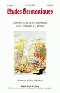 Etudes germaniques, n° 262 -