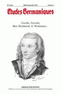 Etudes germaniques, n° 263 -