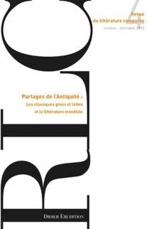 Revue de littérature comparée, n° 344 -